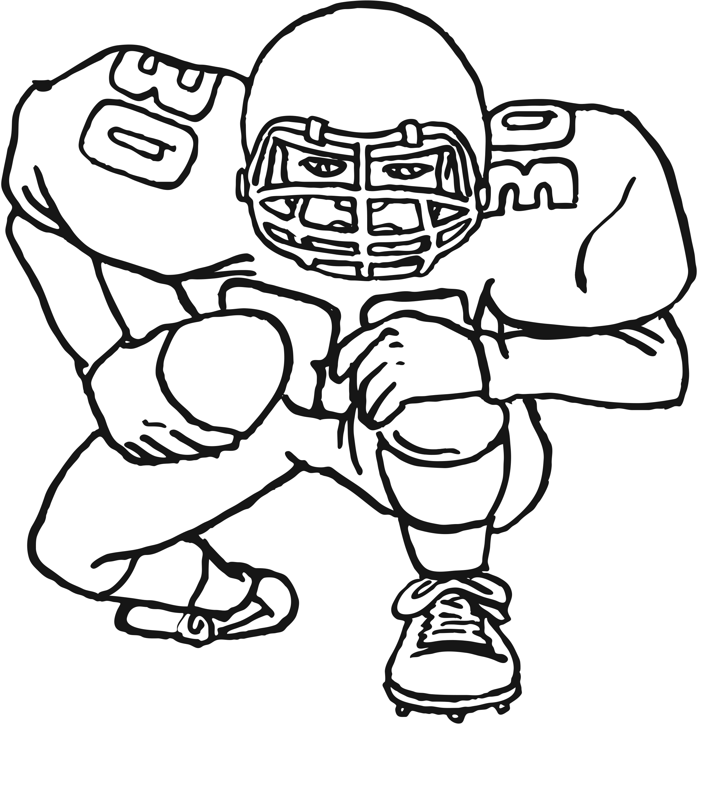 Football Color Pages Football Coloring Pages Printable 0 1467
