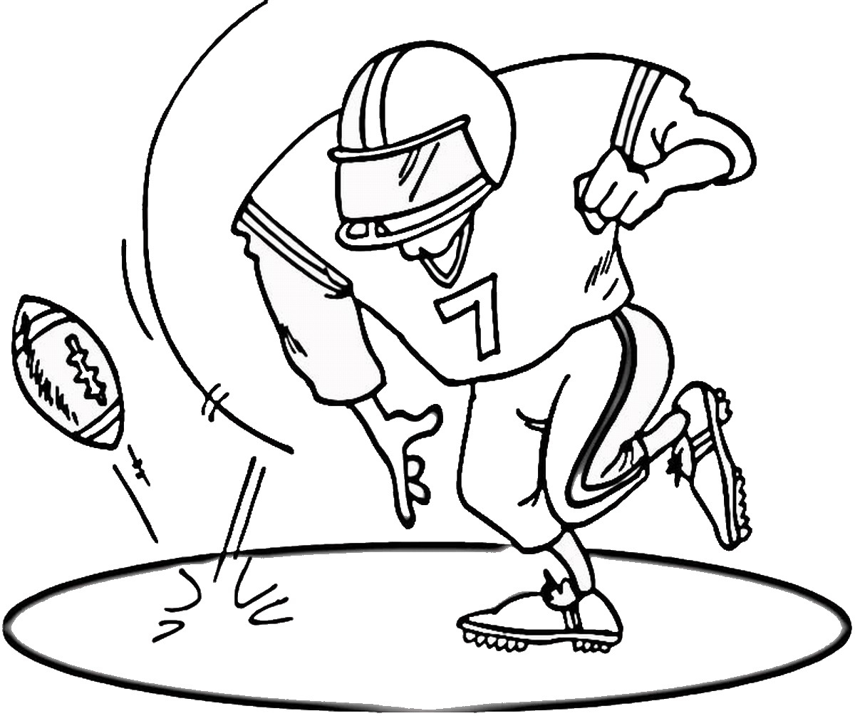 Football Color Pages Free Printable Football Coloring Pages For Kids Best Coloring