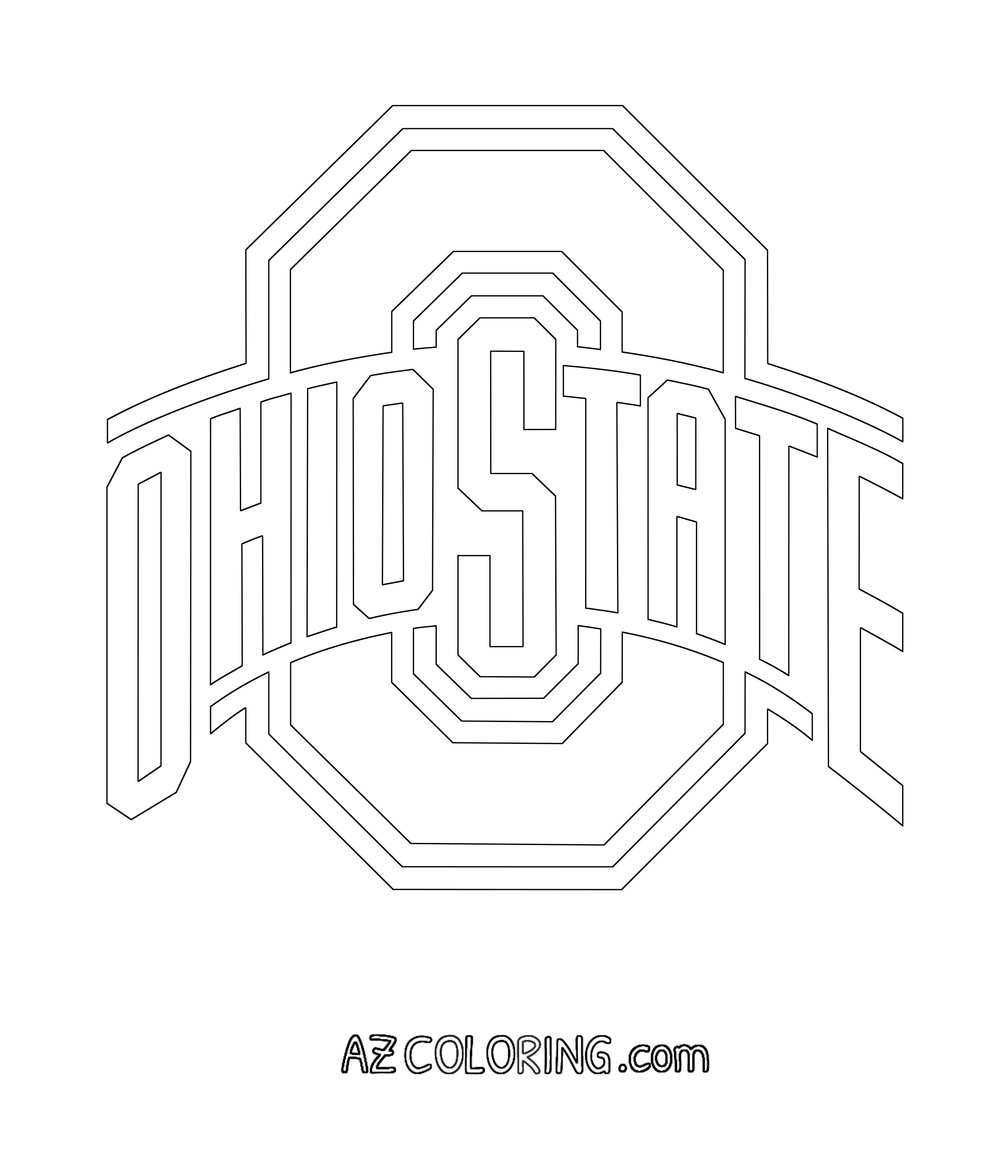 Football Color Pages Ohio State Buckeyes Football Coloring Pages