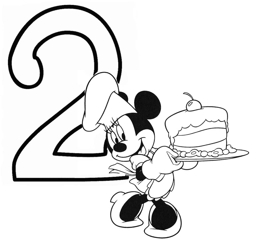 Free Baby Minnie Mouse Coloring Pages Happy Birthday Minnie Mouse Coloring Pages