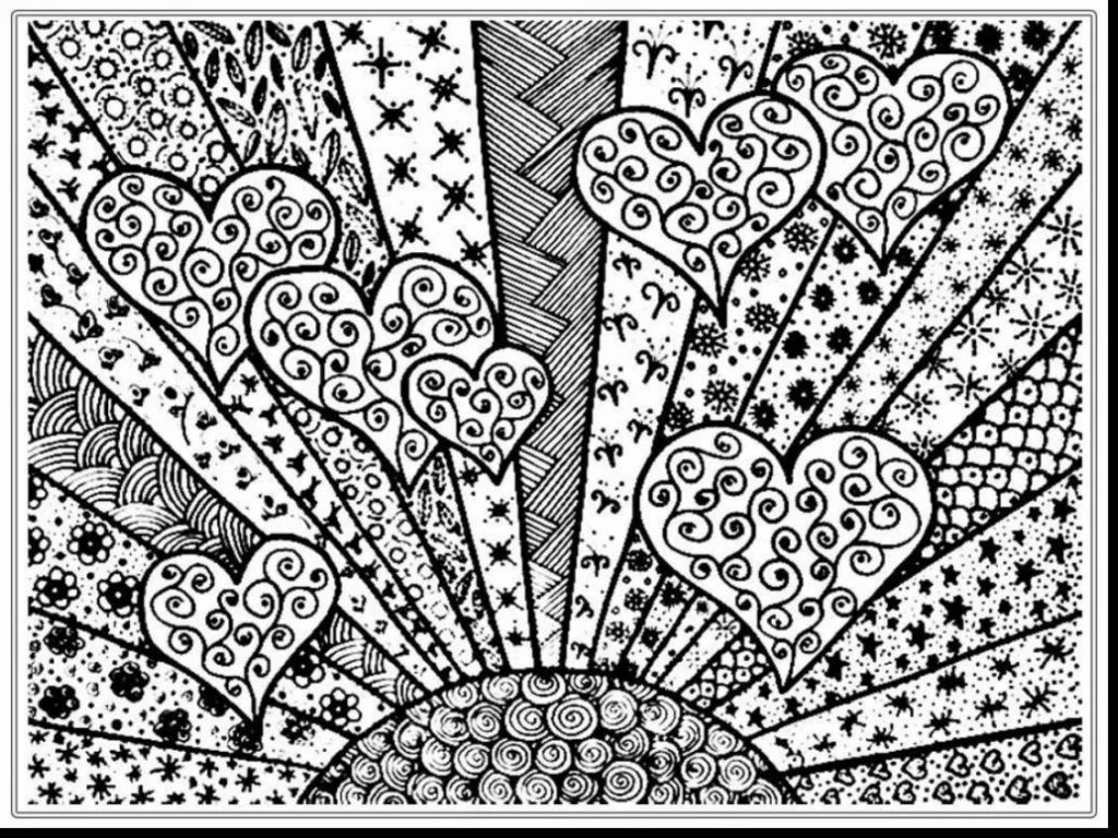 Free Coloring Pages Hearts Coloring Book World Awesome And Beautiful Adult Coloring Pages