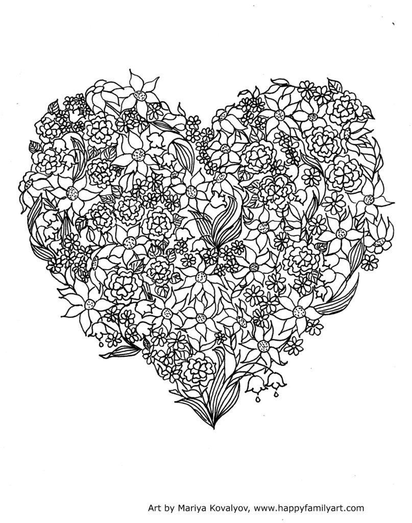 Free Coloring Pages Hearts Coloring Valentine3mediumg Pages Hearts Pictures Broken For Kids