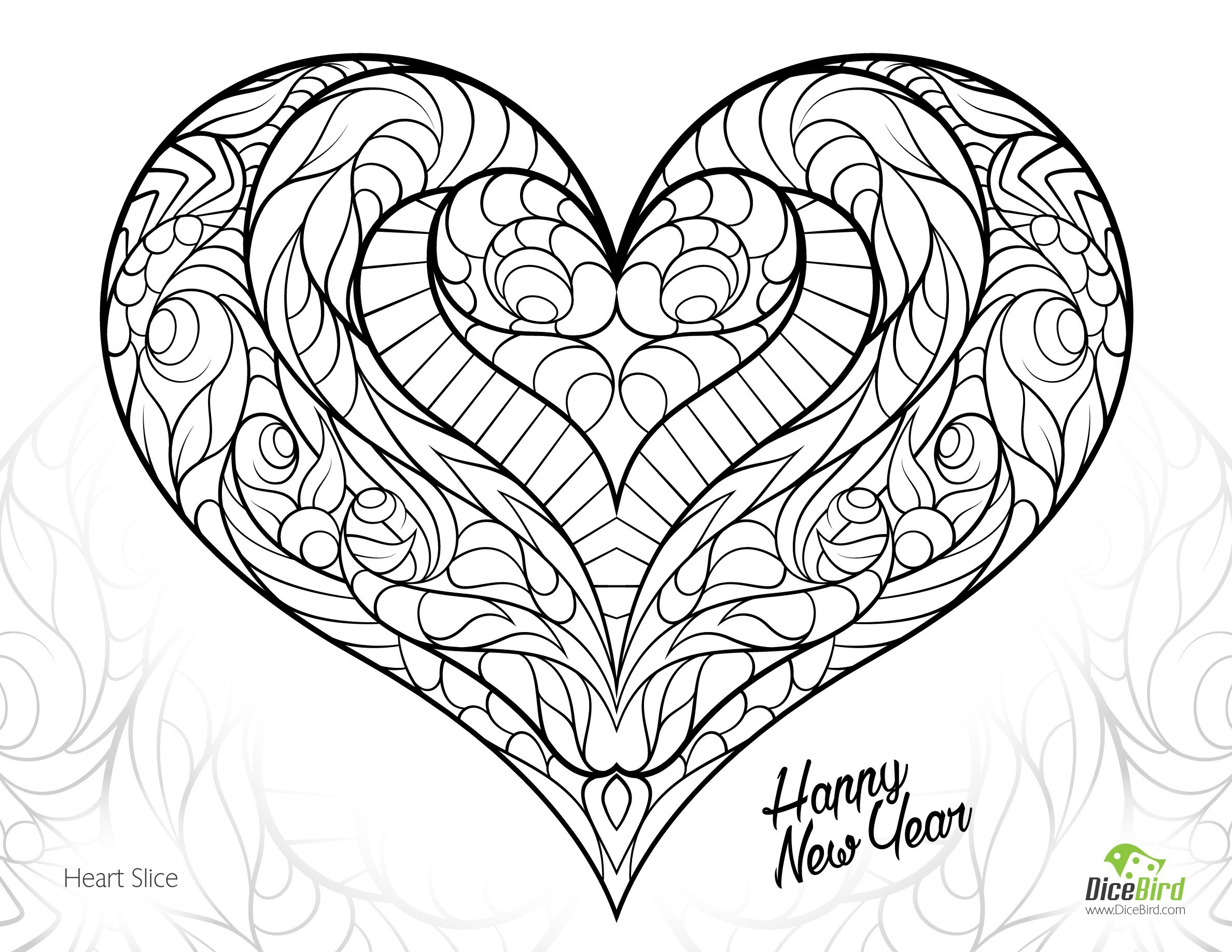 Free Coloring Pages Hearts Free Coloring Pages Of Hearts Printable Heart Coloring Pages New