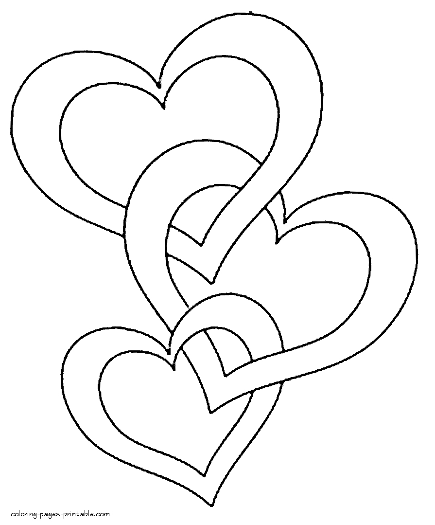 Free Coloring Pages Hearts Hearts And Stars Coloring Pages At Getcolorings Free Printable