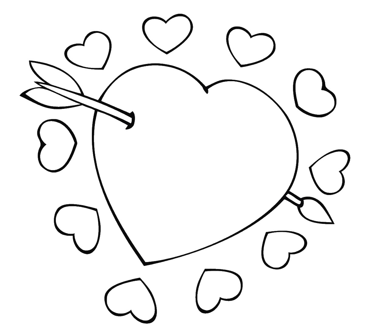Free Coloring Pages Hearts Hearts Coloring Pages