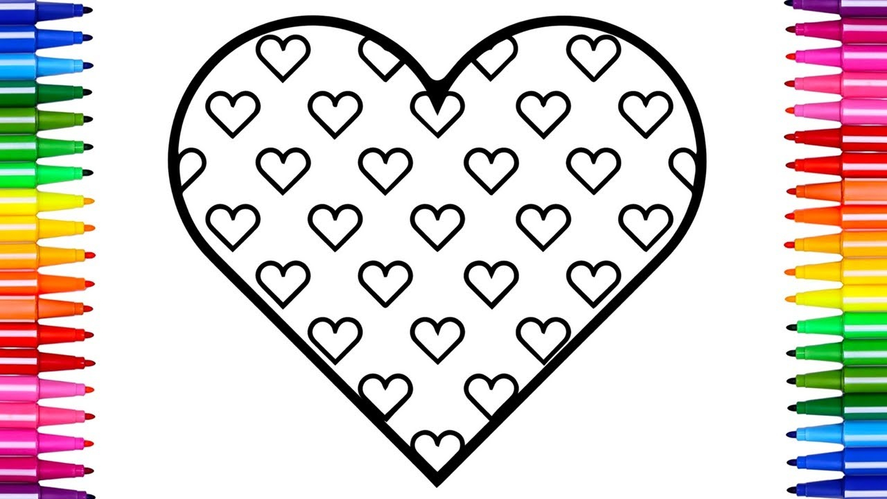 Free Coloring Pages Hearts Shining Design Coloring Pages Hearts Heart Free Printable Pictures
