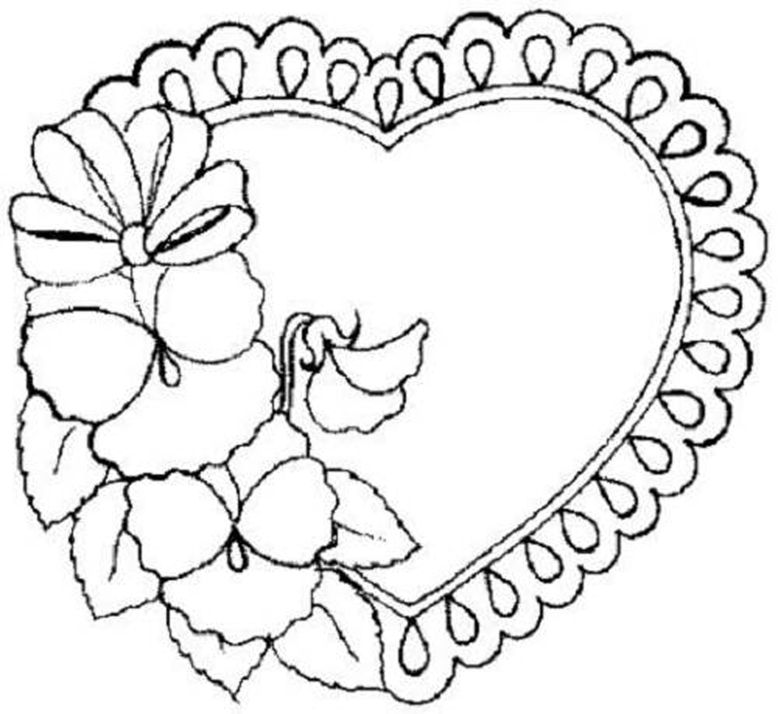 Free Coloring Pages Hearts Trendy Idea Coloring Pages Of Hearts And Flowers Fattkay Free Coloring