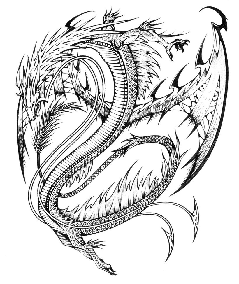 Free Coloring Pages Philip And The Ethiopian Detailed Dragon Coloring Pages For Adults