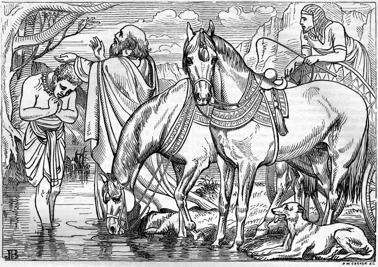 Free Coloring Pages Philip And The Ethiopian Good Words 1860 Bible Records Of Remarkable Conversions
