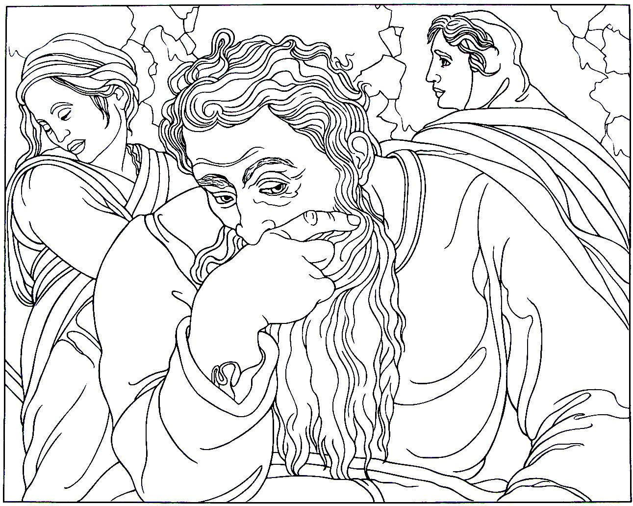 Free Coloring Pages Philip And The Ethiopian Images Of Jeremiah The Prophet Coloring Pages Sabadaphnecottage