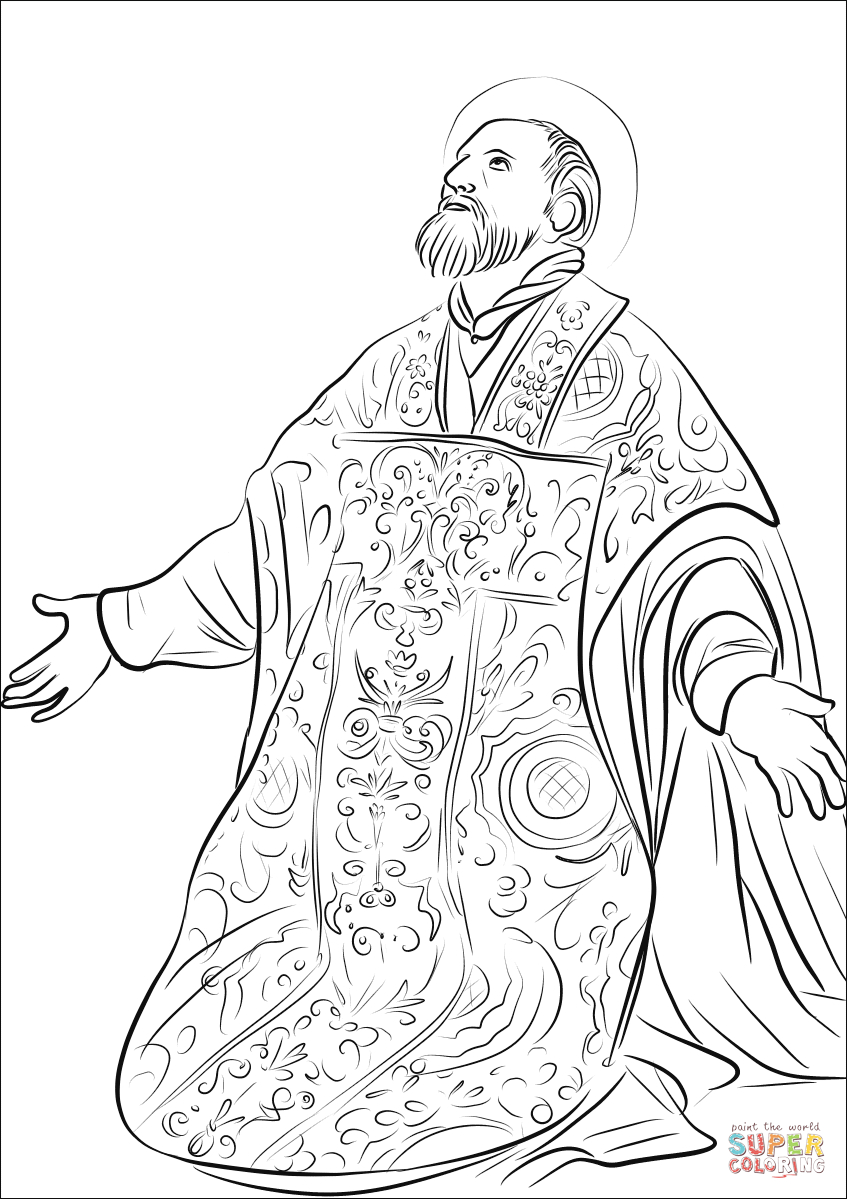 Free Coloring Pages Philip And The Ethiopian St Philip Neri Coloring Page Free Printable Coloring Pages