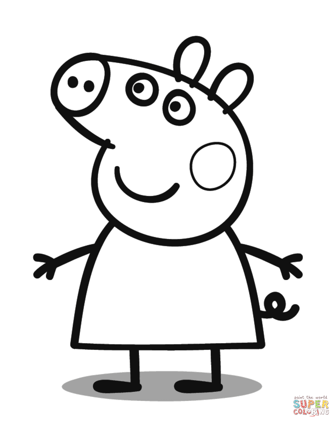 Free Guinea Pig Coloring Pages Peppa Pig Coloring Page Free Printable Coloring Pages