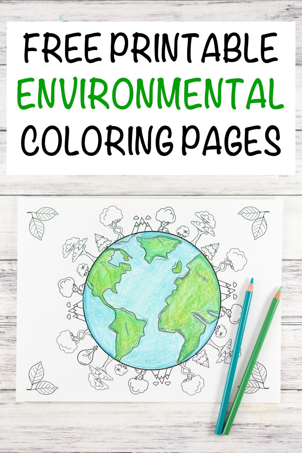 Free Printable Earth Day Coloring Pages And Activities 20 Earth Day And Environmental Coloring Pages The Artisan Life