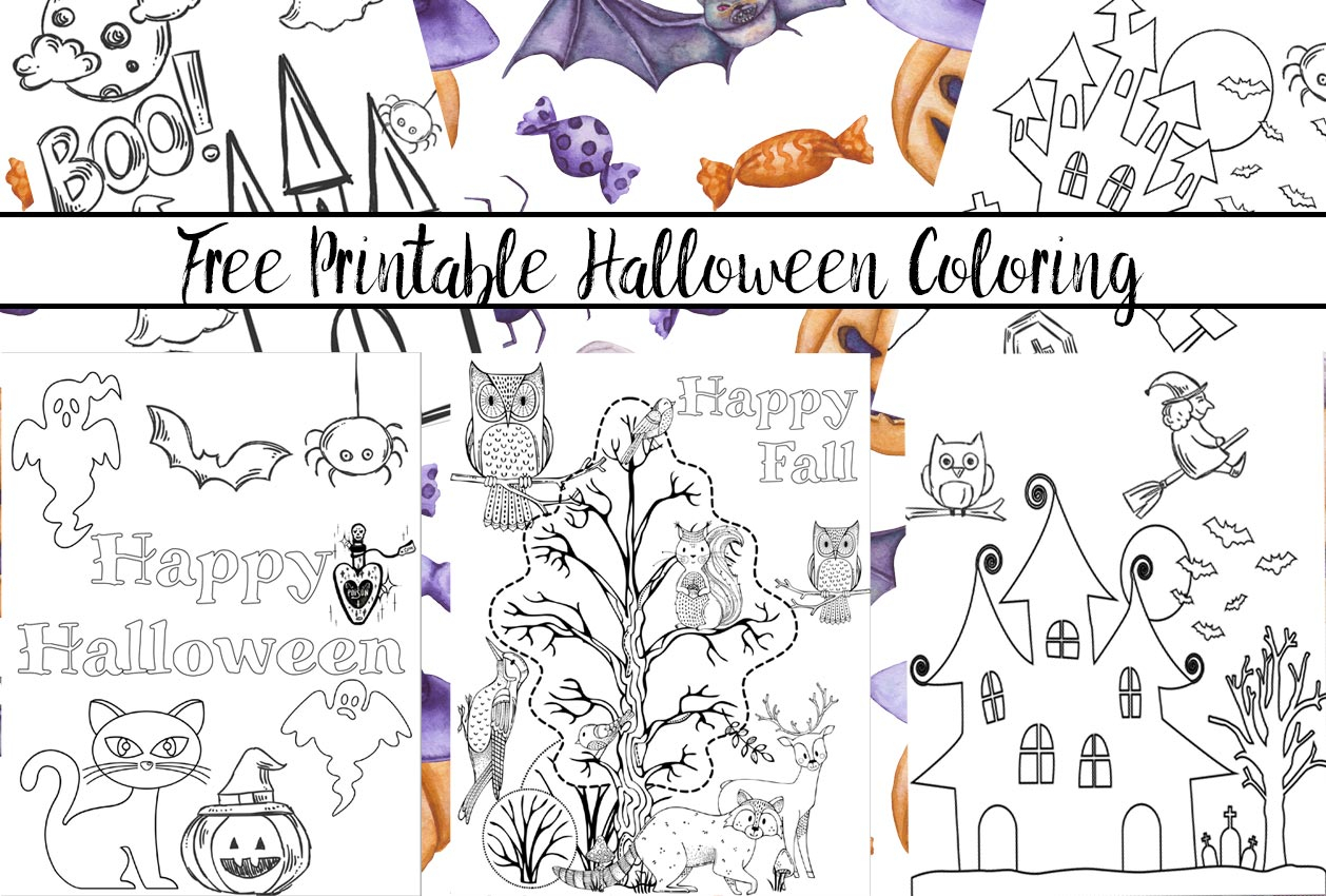 Free Printable Halloween Coloring Page 5 Free Printable Halloween Coloring Pages For Kids