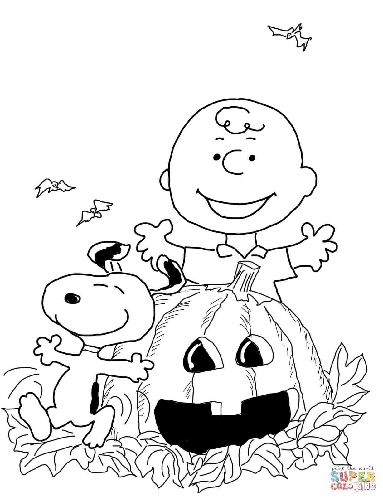 Free Printable Halloween Coloring Page Charlie Brown Halloween Coloring Page Free Printable Coloring Pages