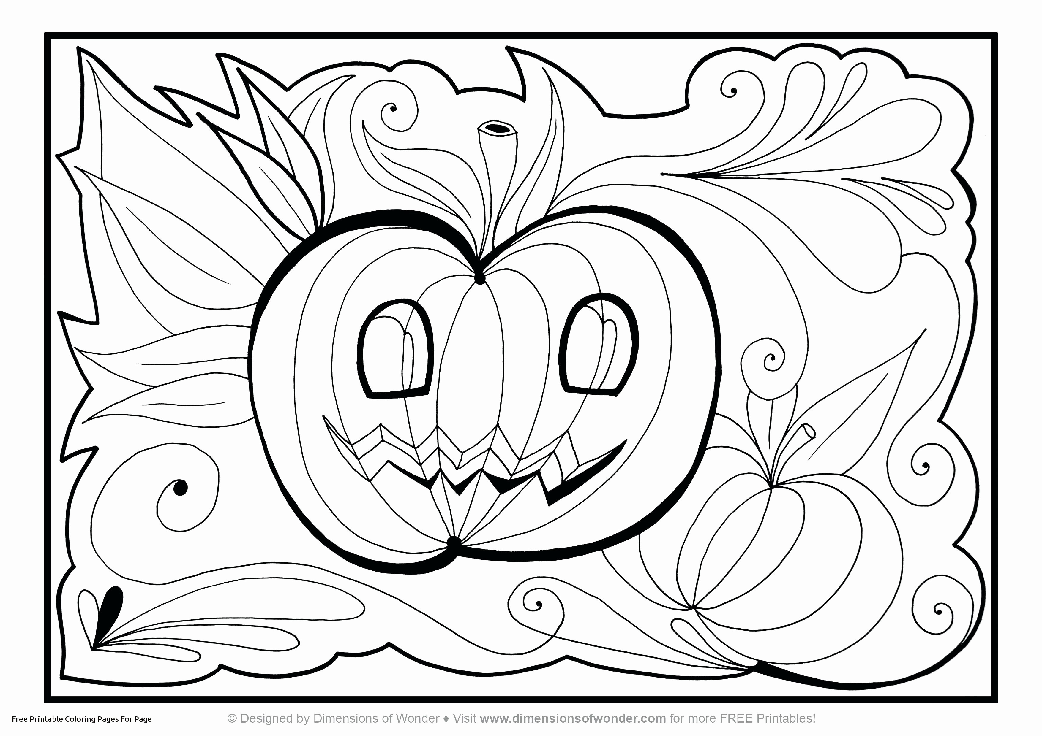 Free Printable Halloween Coloring Page Coloring Book World Free Printable Halloween Coloring Sheets Book