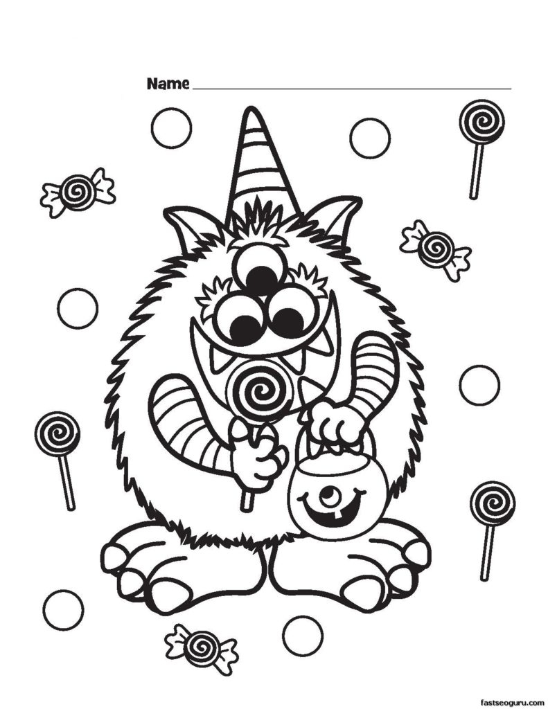 Free Printable Halloween Coloring Page Coloring Free Printable Halloween Coloring Pages Capricus Me