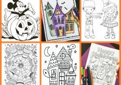 Free Printable Halloween Coloring Page Free Halloween Coloring Pages For Adults Kids Happiness Is Homemade