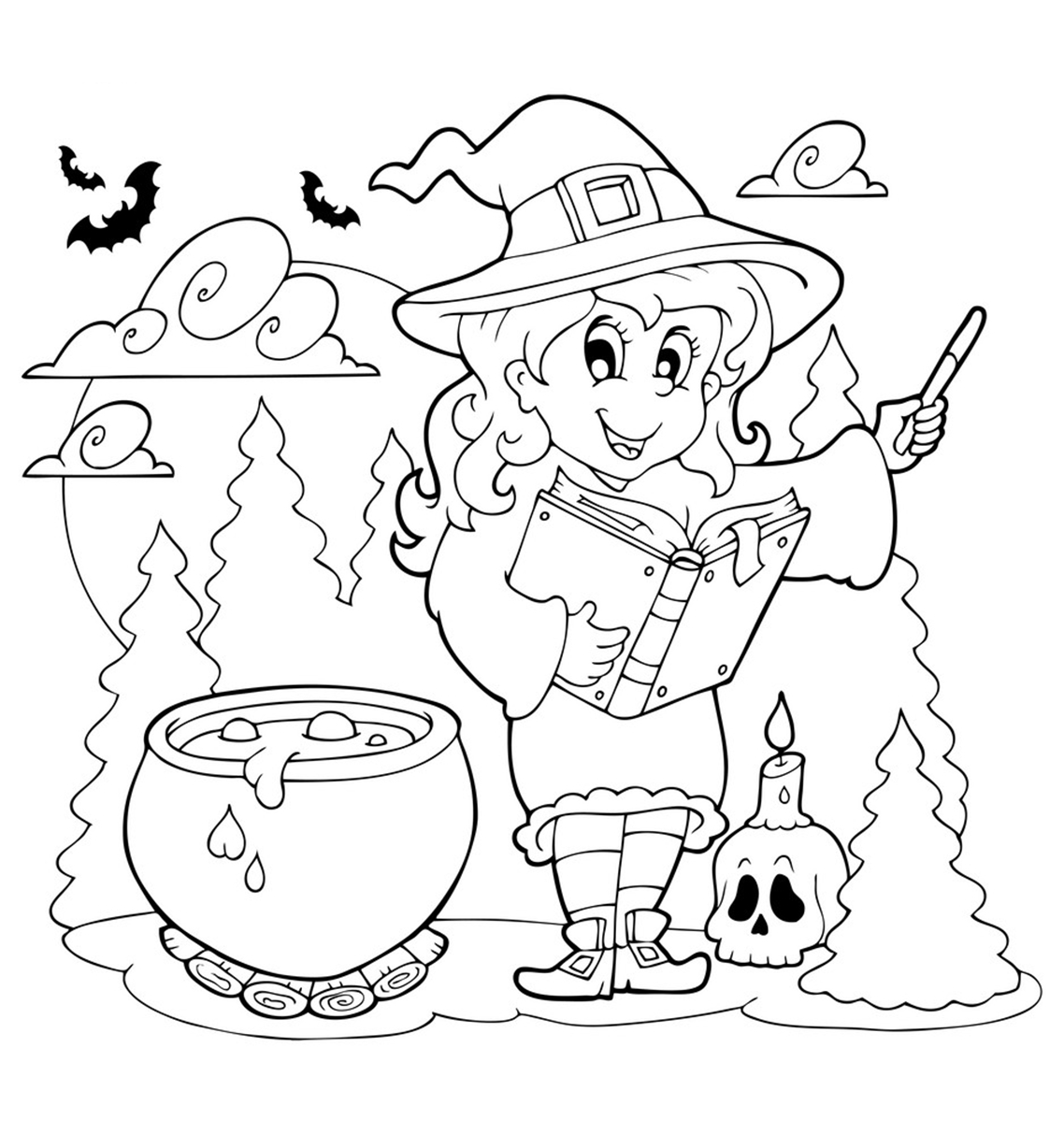 Free Printable Halloween Coloring Page Free Printable Halloween Coloring Pages Updated August 2019