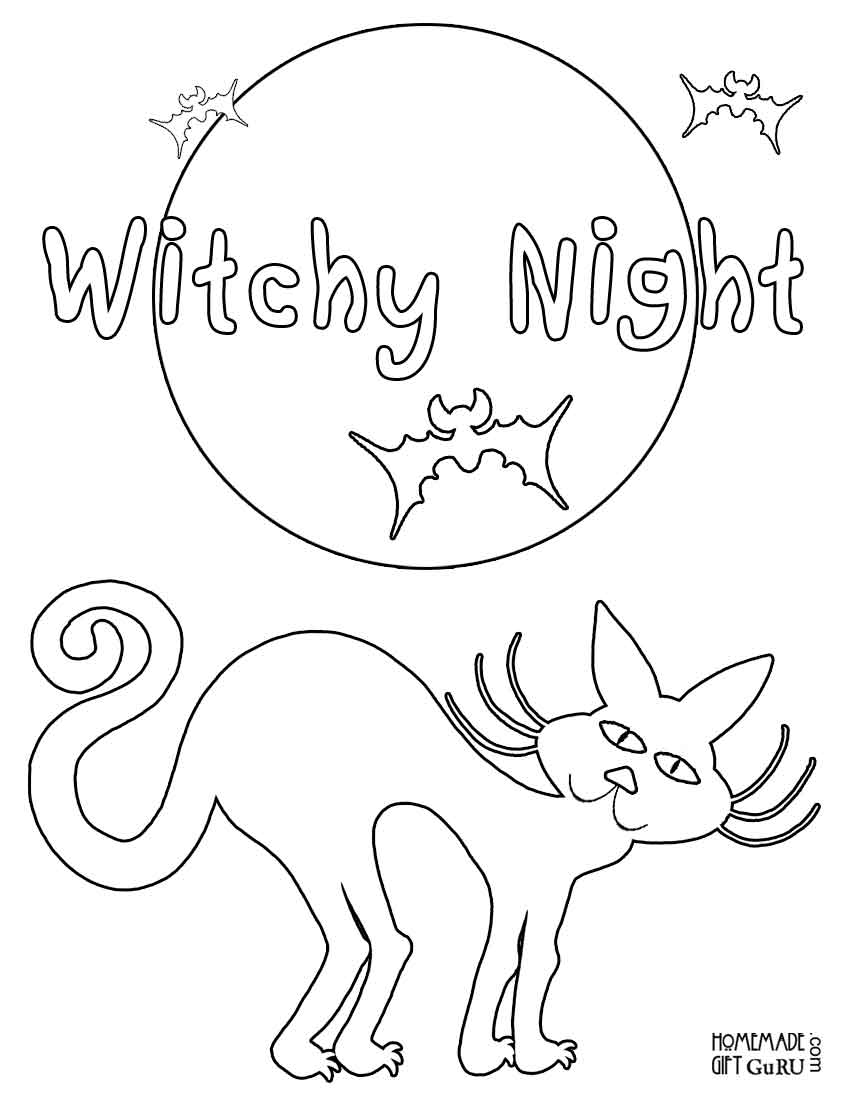 Free Printable Halloween Coloring Page Halloween Coloring Sheets Free Printable Halloween Coloring Pages