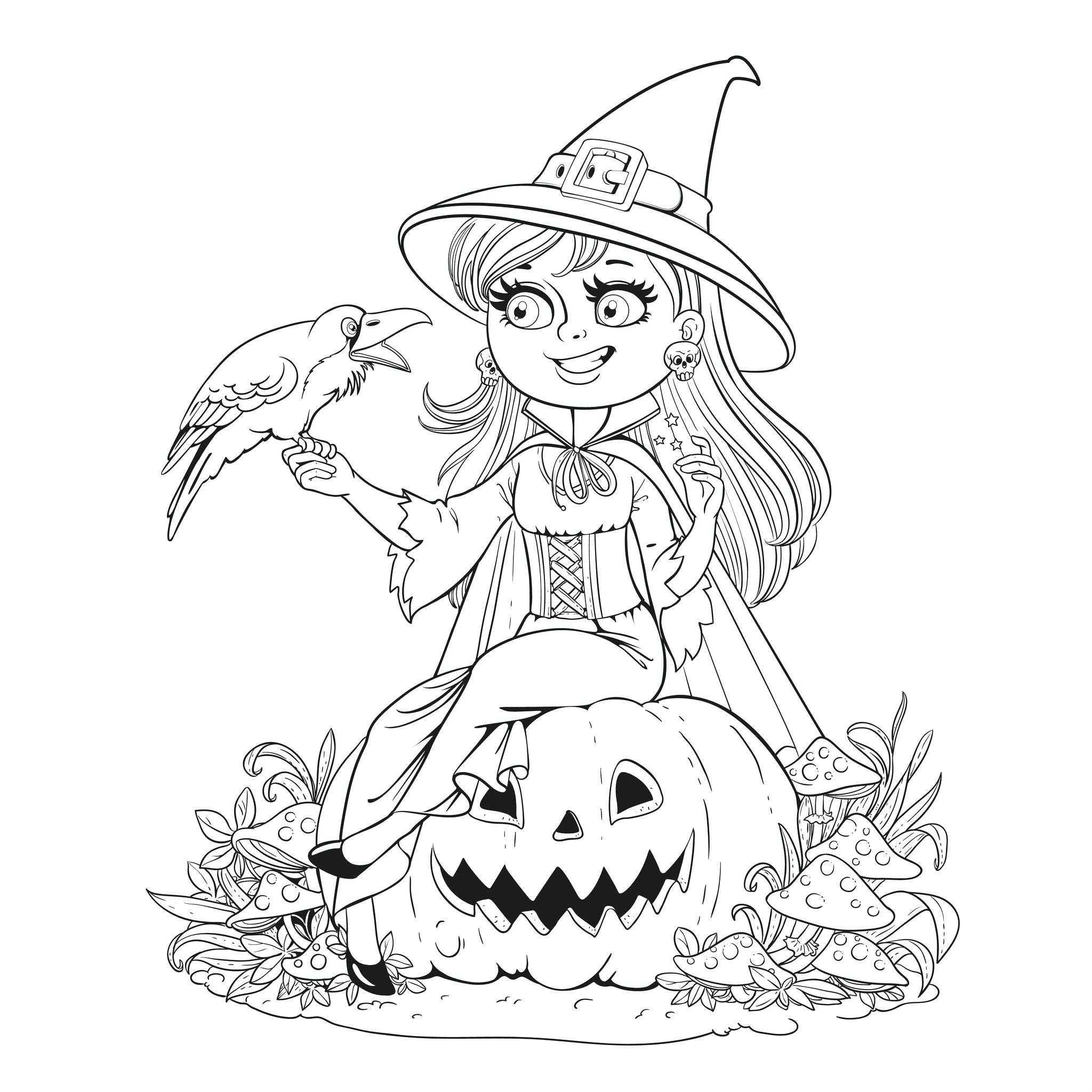 Free Printable Halloween Coloring Page Printable Halloween Coloring Pages To Print Tingameday