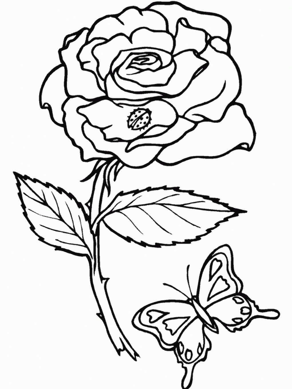 Free Rose Coloring Pages 27 Rose Coloring Pages Printable Collections Free Coloring Pages