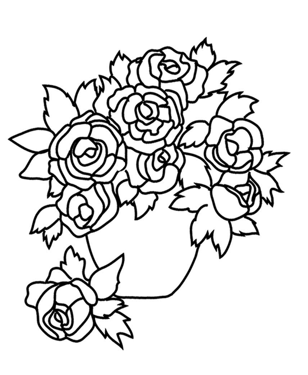 Free Rose Coloring Pages Flower Coloring Pages