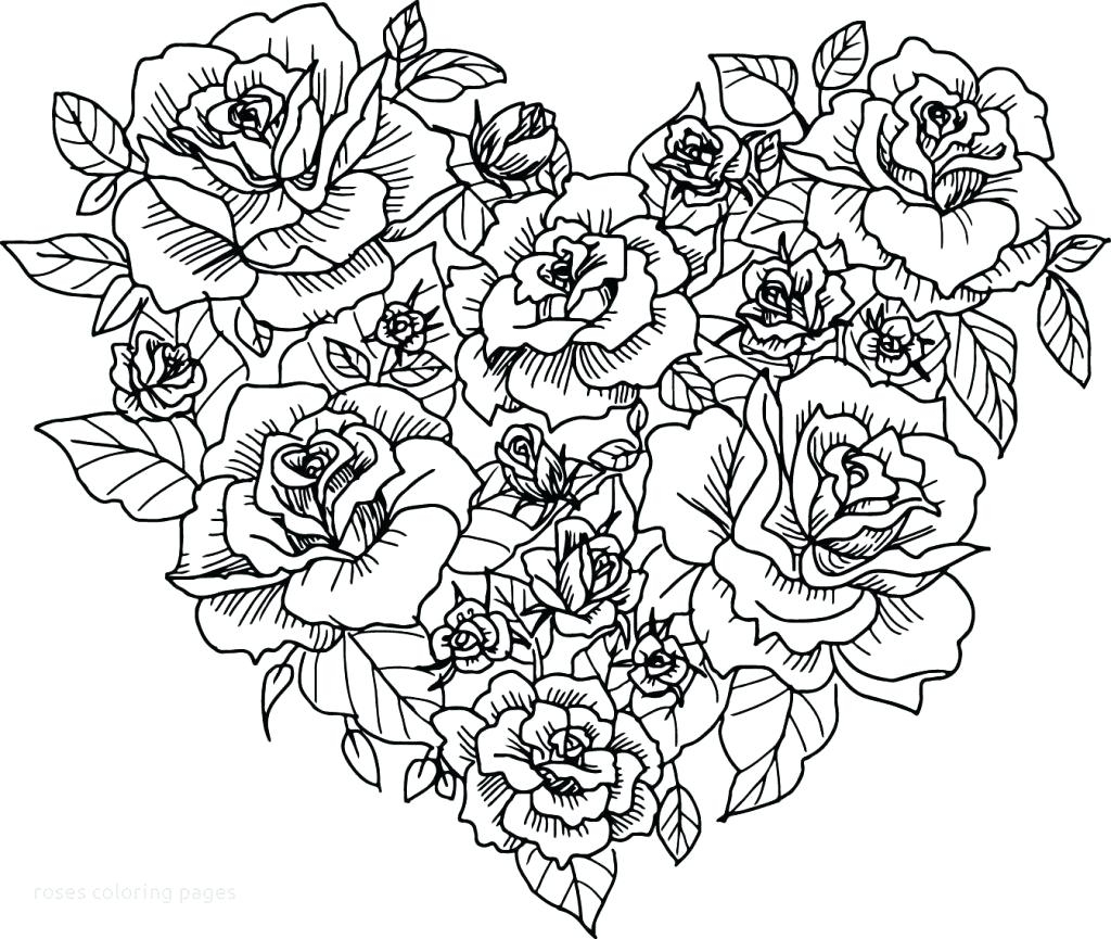 Free Rose Coloring Pages Free Coloring Page Of A Rose Maximosheetco