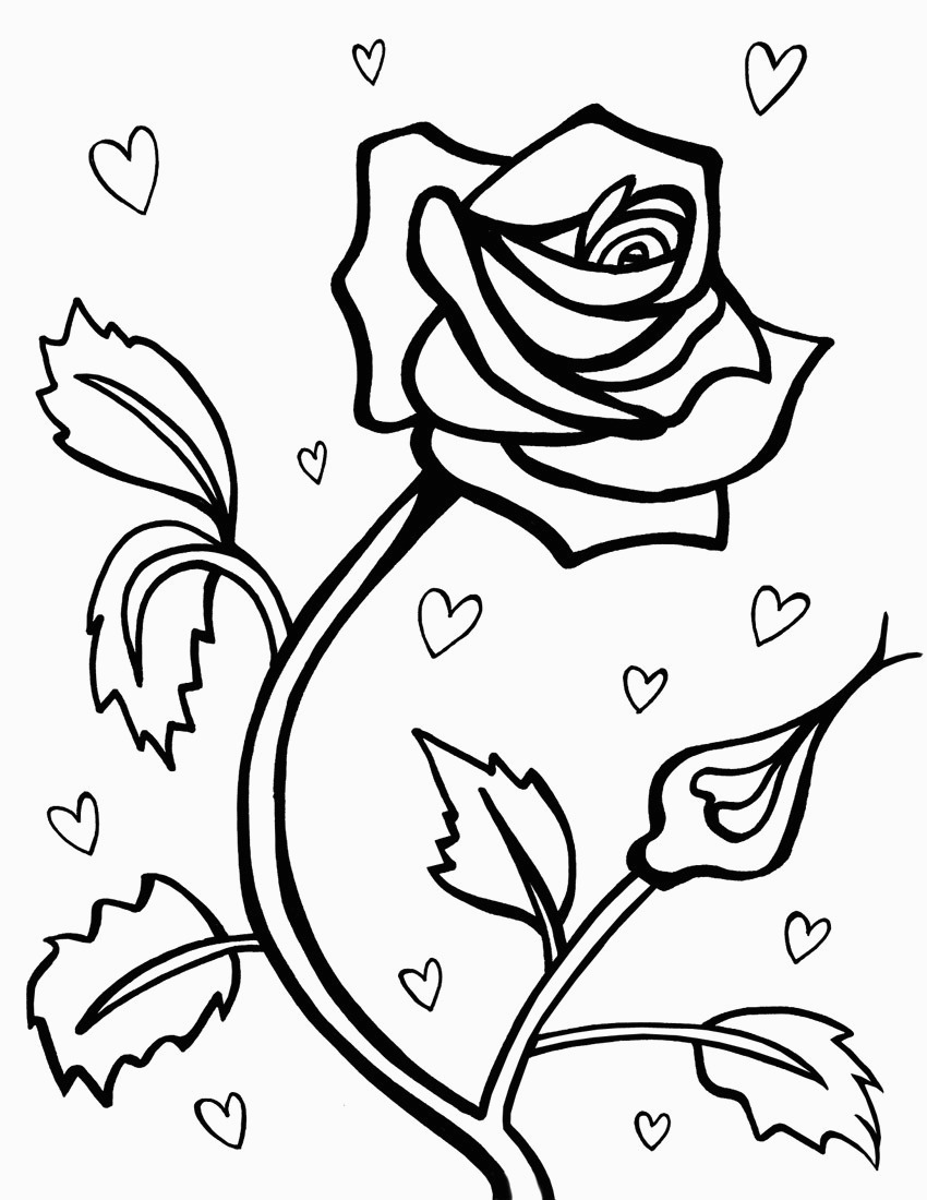 Free Rose Coloring Pages Free Printable Roses Coloring Pages For Kids For Rose Coloring Pages