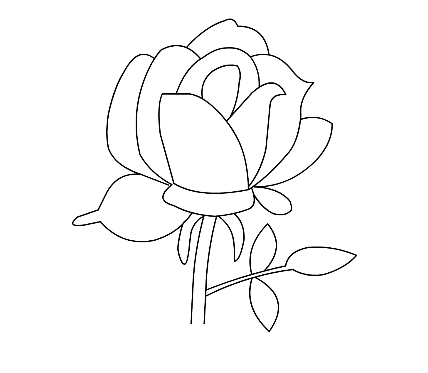 Free Rose Coloring Pages Free Printable Roses Coloring Pages For Kids