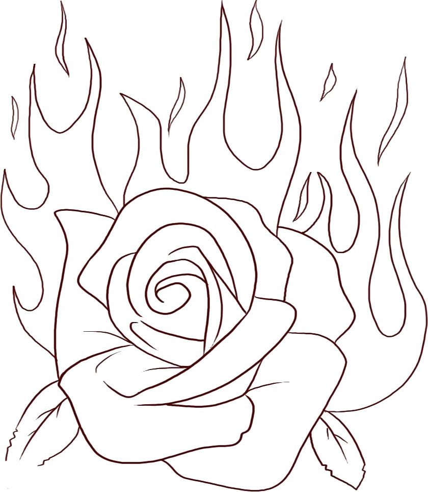 Free Rose Coloring Pages Rose Coloring Pages Bestofcoloringcom Rose Coloring Pages Free