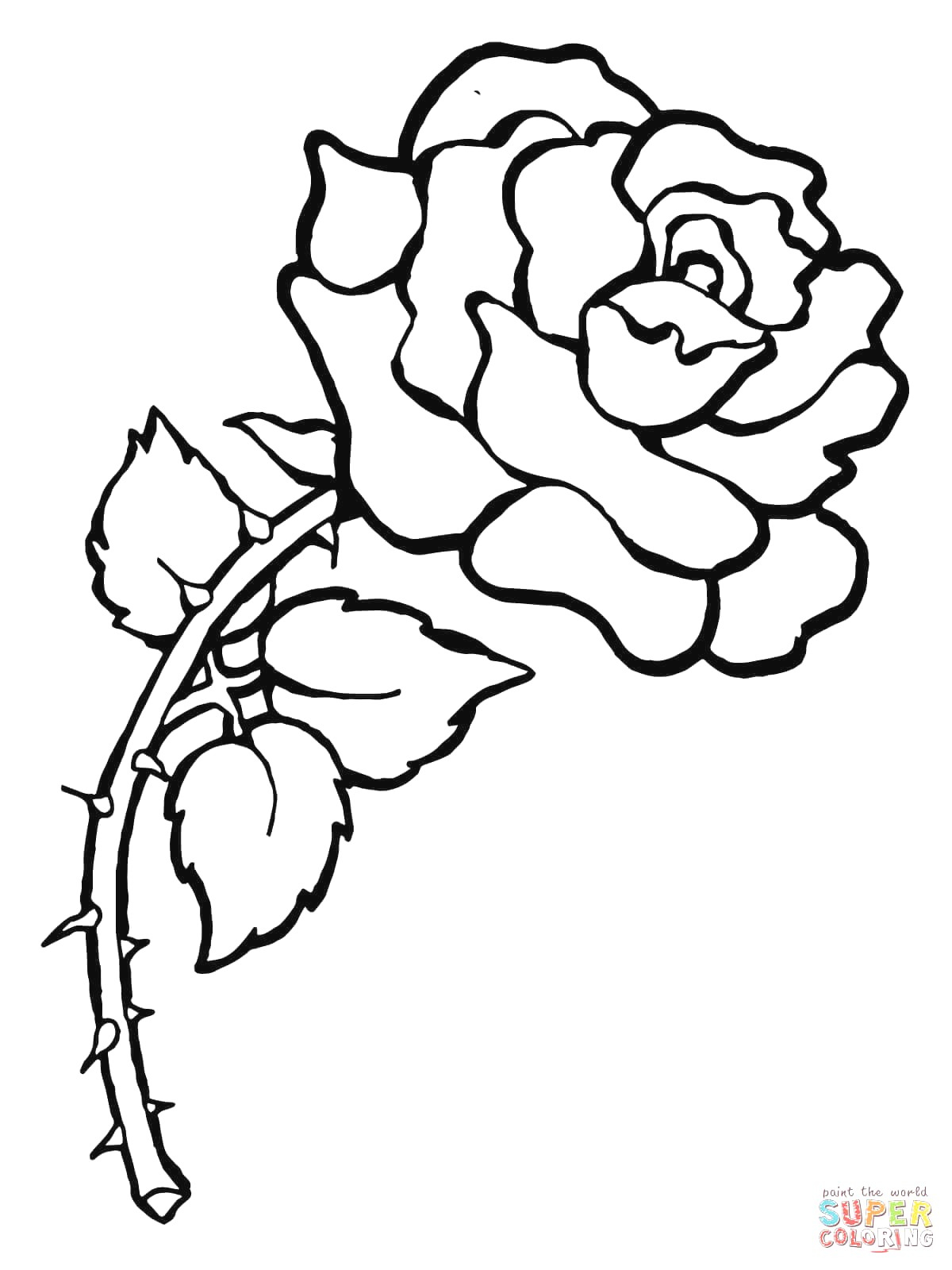Free Rose Coloring Pages Roses Coloring Pages