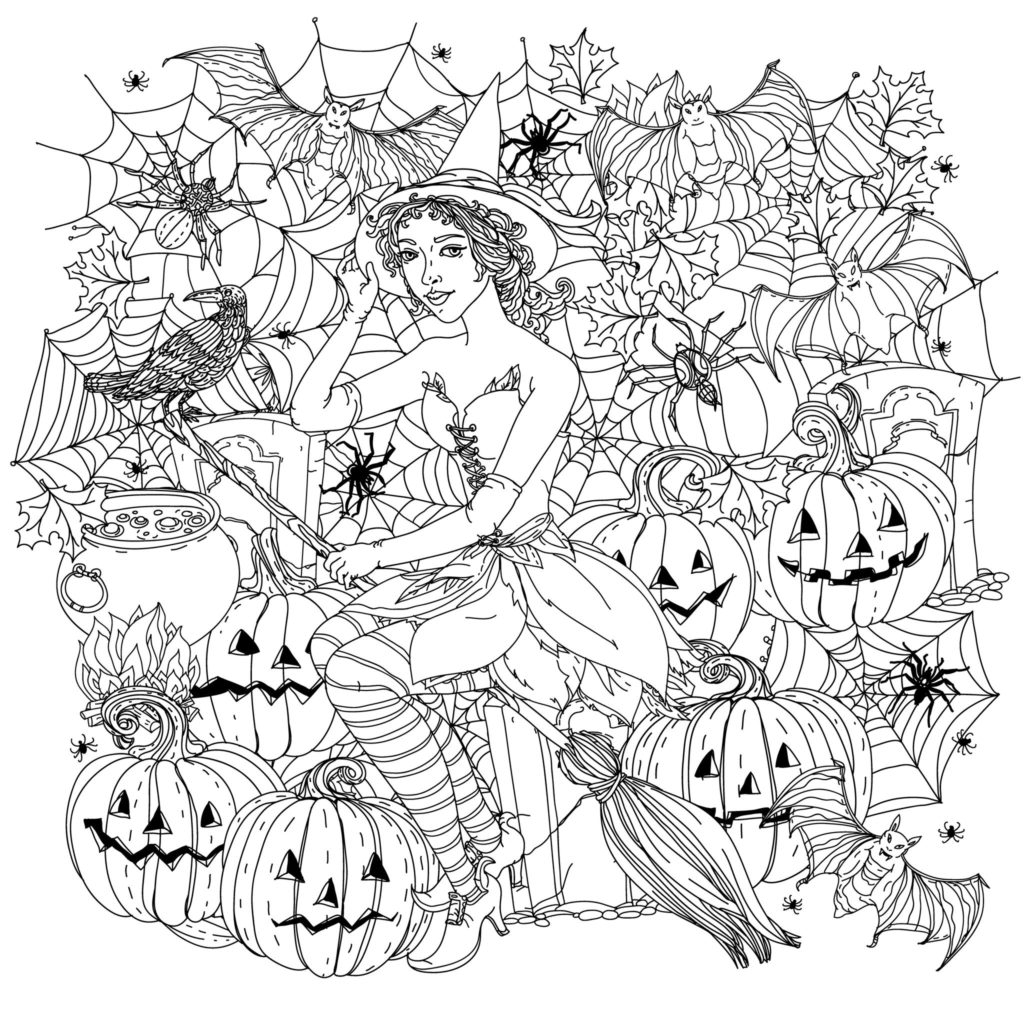 Free Scary Halloween Coloring Pages Coloring Halloween Witch Coloring Pages Disney For Kids Scary