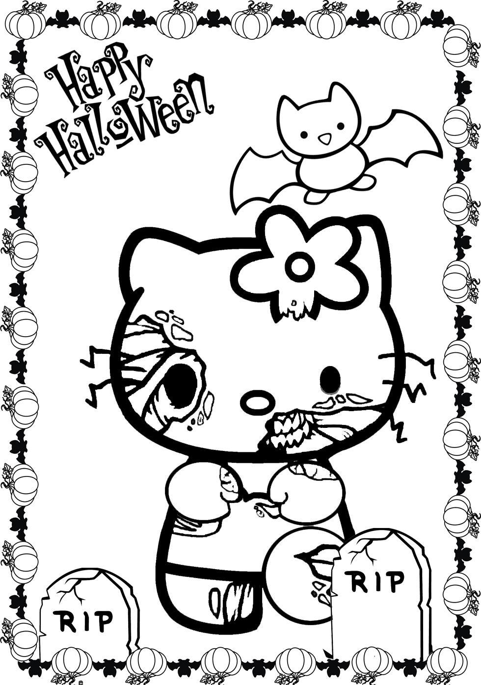 Free Scary Halloween Coloring Pages Coloring Pages Fullscary Halloween Hello Kittyloring Pages