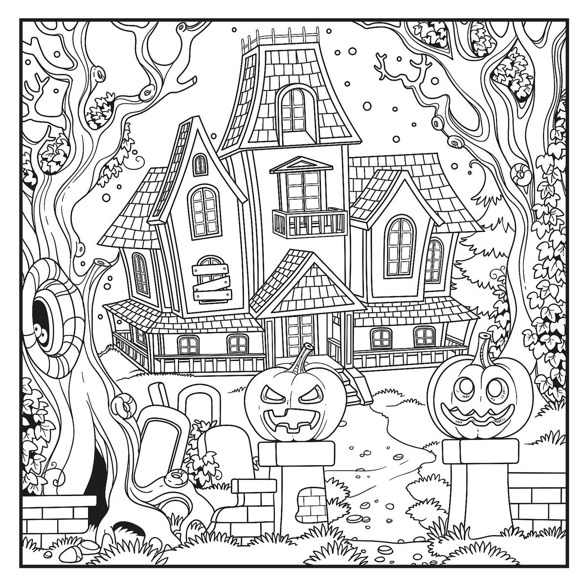 Free Scary Halloween Coloring Pages Images Of Scary Halloween Coloring Pages Printables Sabadaphnecottage