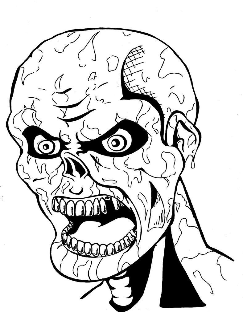 Free Scary Halloween Coloring Pages Scary Coloring Pages Best Coloring Pages For Kids