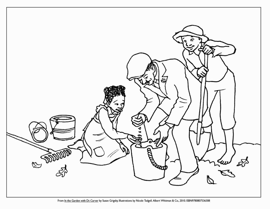 George Washington Carver Coloring Page Betta Fish Coloring Page Coloring Pages
