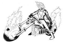 Ghost Rider Coloring Pages To Print Ghost Rider Coloring Pages