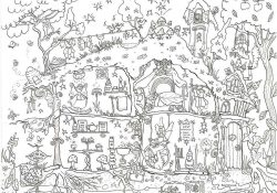 Giant Coloring Pages For Adults Coloring Coloring Fairy House Colouring In Poster Pages Super