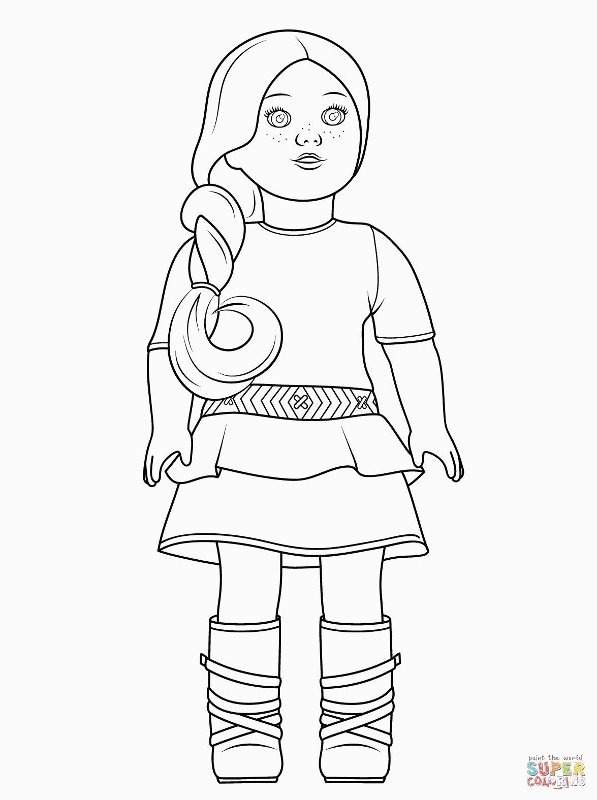 Girl Color Pages American Girl Saige Coloring Page For American Girl Color Pages