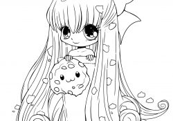 Girl Color Pages Chibi Cookie Girl Coloring Page Free Printable Coloring Pages