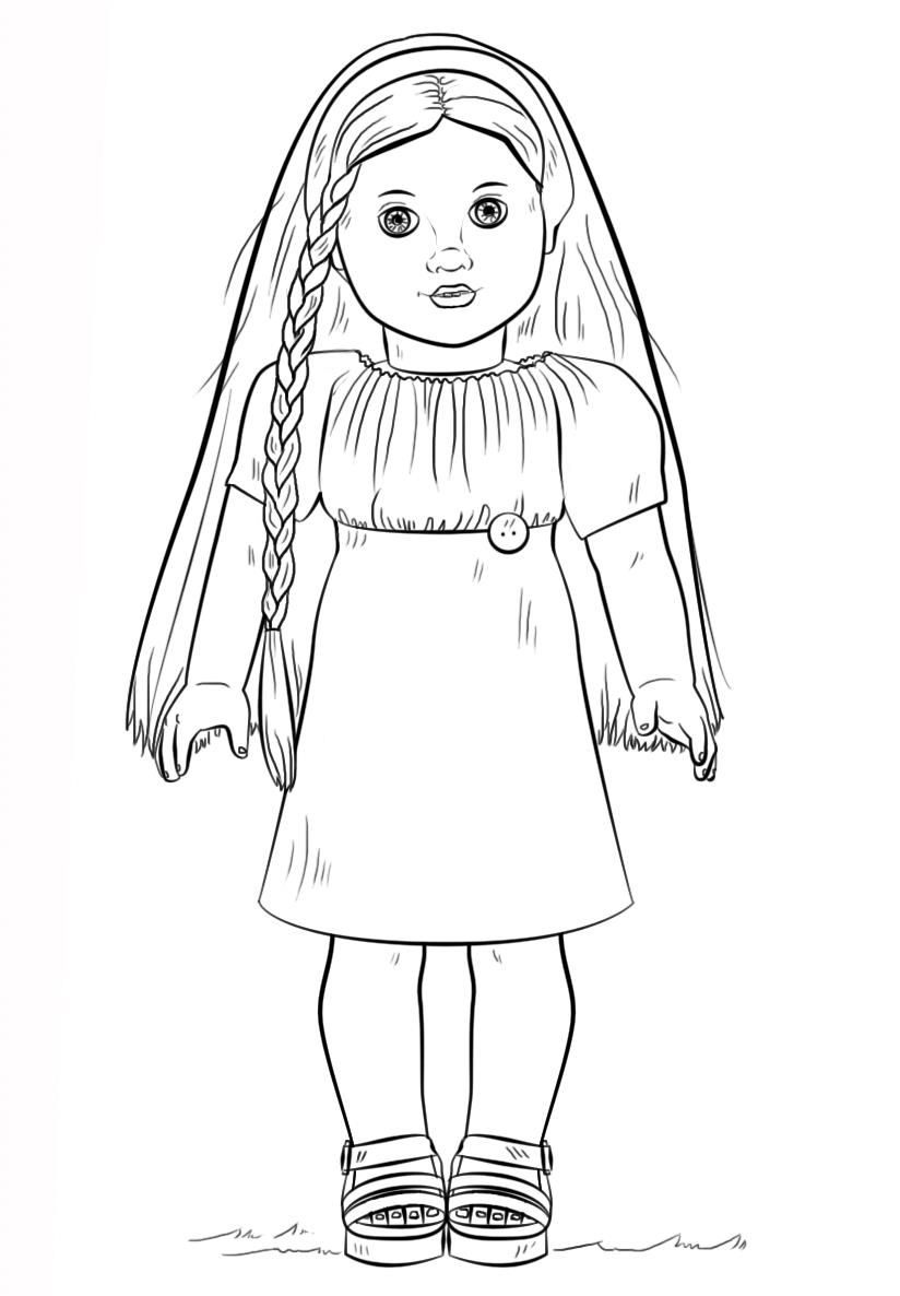 Girl Color Pages Coloring Ideas American Girl Coloring Pages Best For Kids Ideas