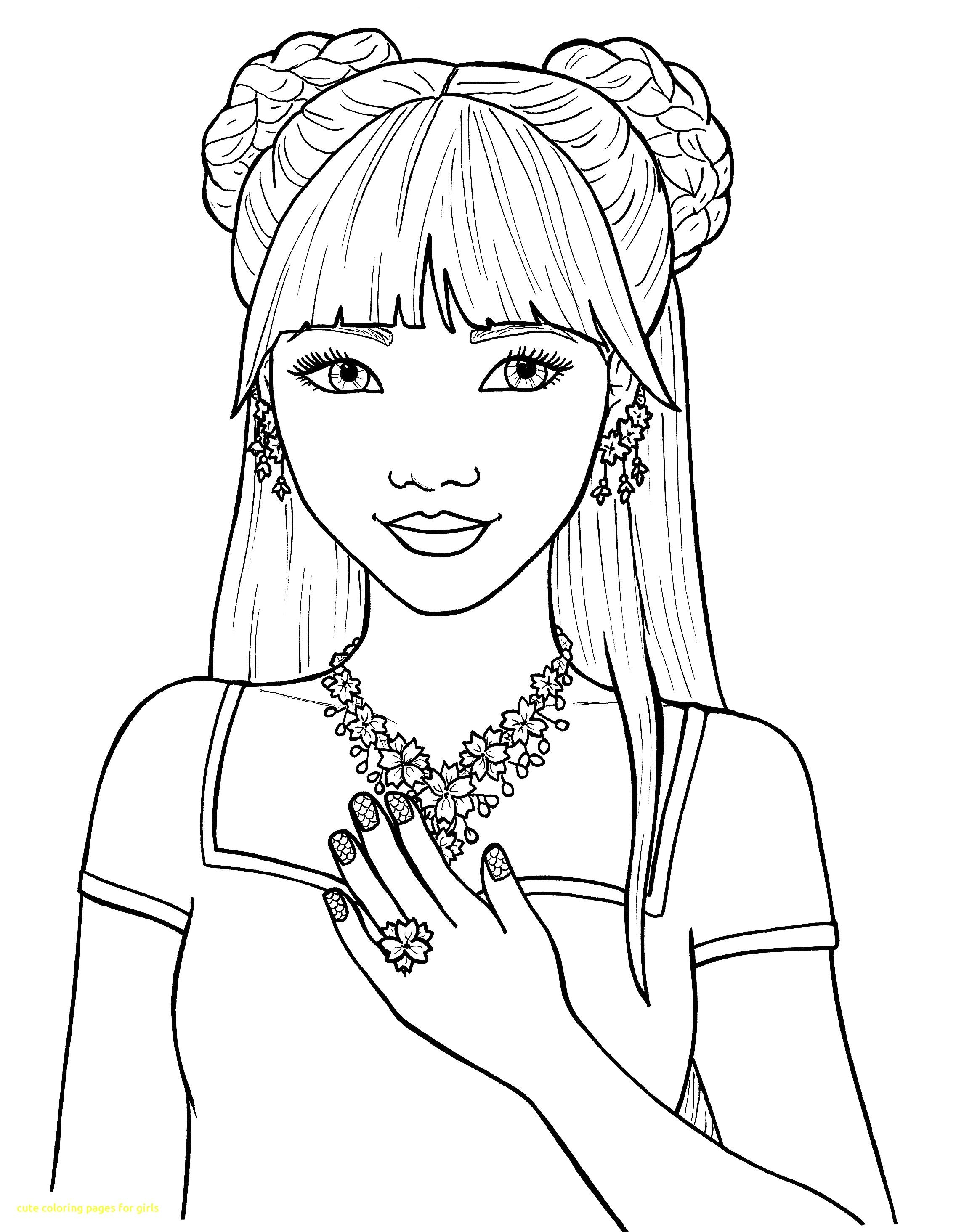 Girl Color Pages Coloring Pages Coloring Pages Cute For Girls With Of Inside Teens