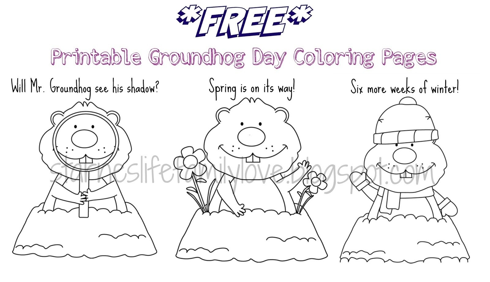 Groundhog Day Printable Coloring Pages Coloring Coloringhog Day Pages New Free Printable Beauteous Page