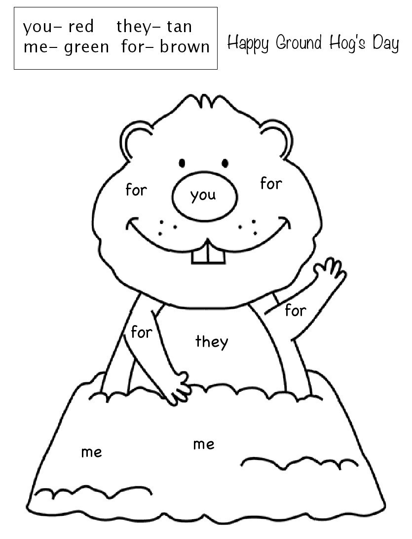 Groundhog Day Printable Coloring Pages Coloring Free Printable Groundhog Day Activities For Kids First