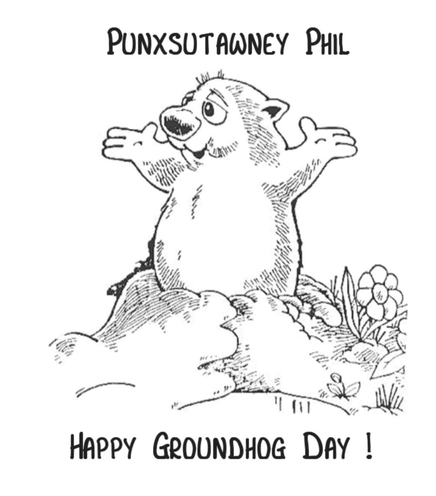 Groundhog Day Printable Coloring Pages Coloring Groundhog Day Coloring Pages Free Printable Home