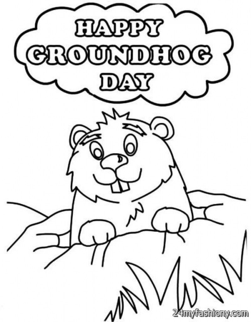Groundhog Day Printable Coloring Pages Coloring Groundhog Day Coloring Pages Launching Sheets Best Sheet