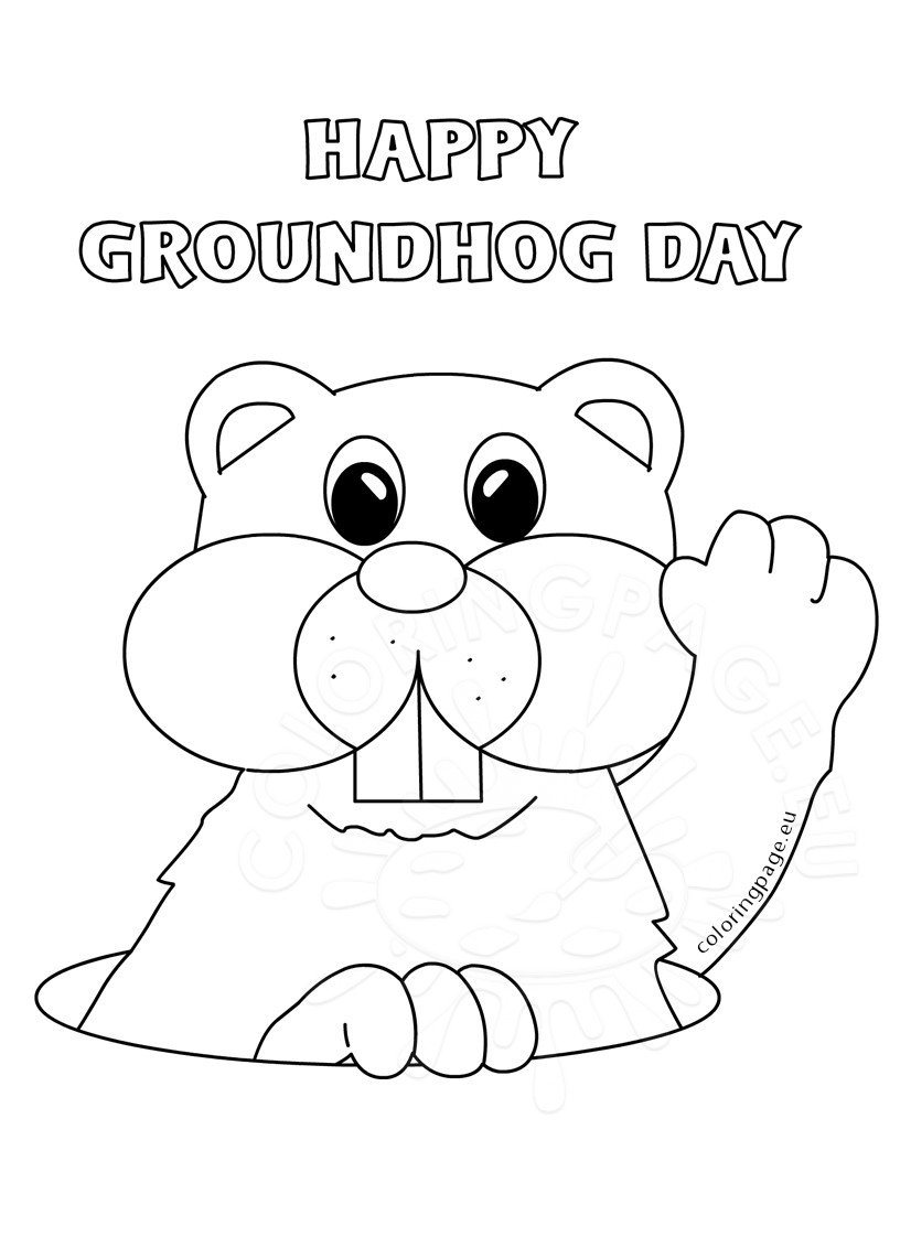 Groundhog Day Printable Coloring Pages Groundhog Day 2017 Marmot Coloring Page
