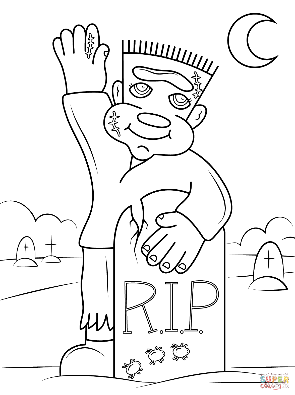 Halloween Frankenstein Coloring Pages Cute Frankenstein Coloring Page Free Printable Coloring Pages