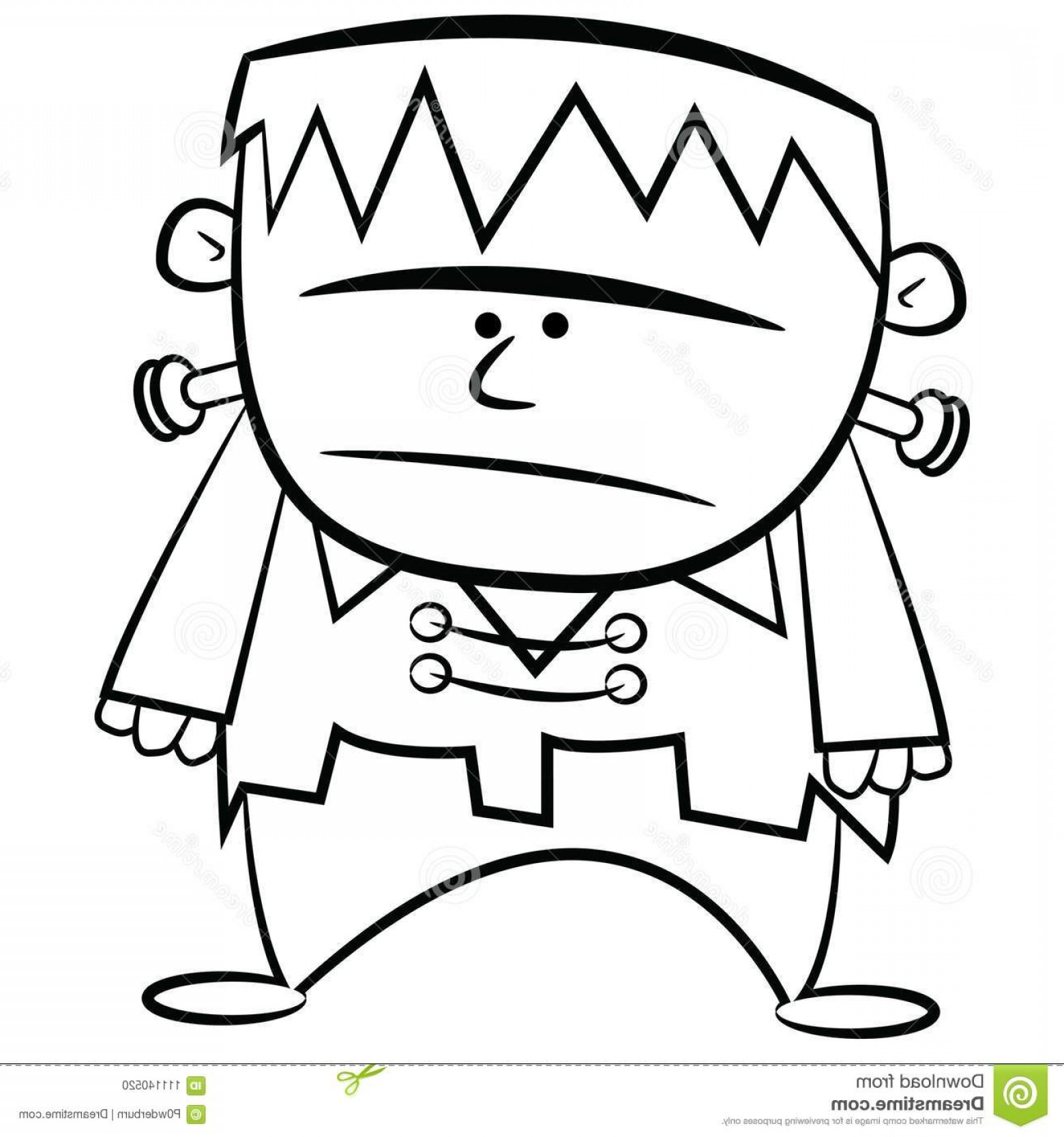 Halloween Frankenstein Coloring Pages Frankenstein Black And White Vector Lamaison